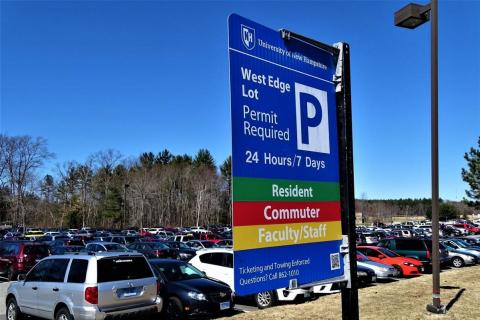 Parking Sign for West Edge Lot
