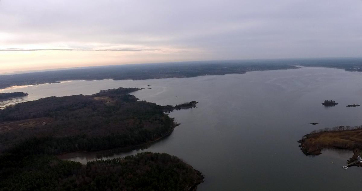 Aerial view of Great bay