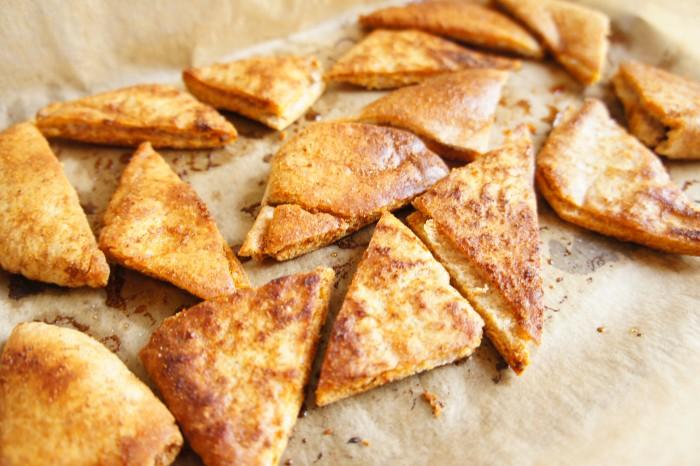 DIY Bean Dip & Crispy Pita Chips in the UNH Dining Halls
