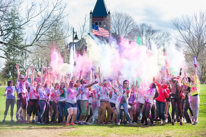 UNH Students Hold Holi Festival to Welcome May