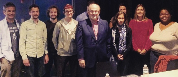 UNH MFA Writing Students Meet with Salman Rushdie