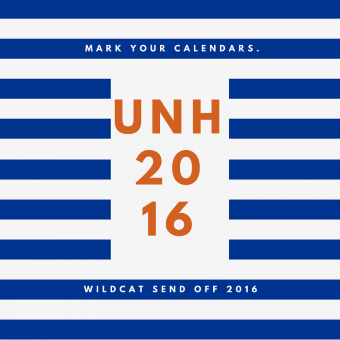 Wildcat Sendoff: The Countdown for #UNH16
