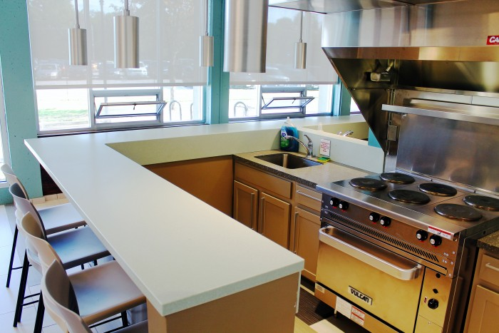 See the New Kitchen Remodel inside Babcock Hall