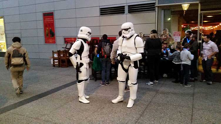 Storm troopers at the AGU meeting
