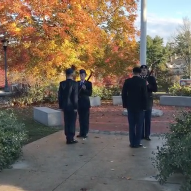 flag vigil at UNH Veterans Day 2016