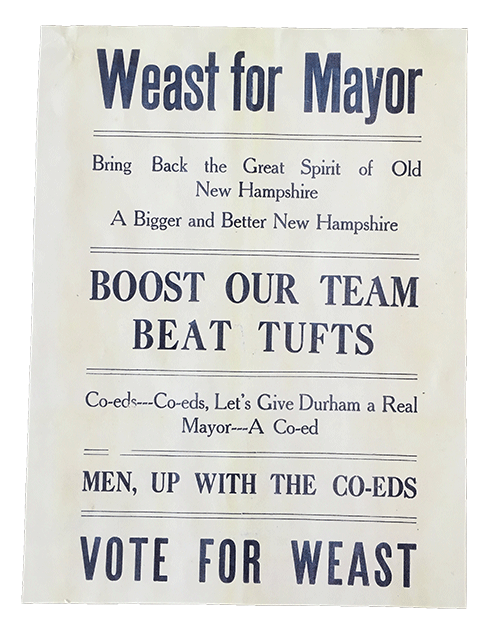 Weast for Mayor campaign flyer