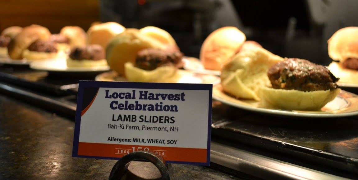Lamb sliders at UNH harvest dinner