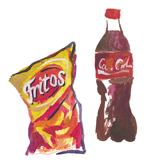 Fritos and Coke illustration