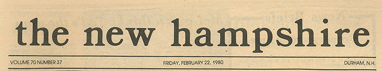 The New Hampshire, February 22, 1980