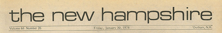 The New Hampshire, January 30, 1976