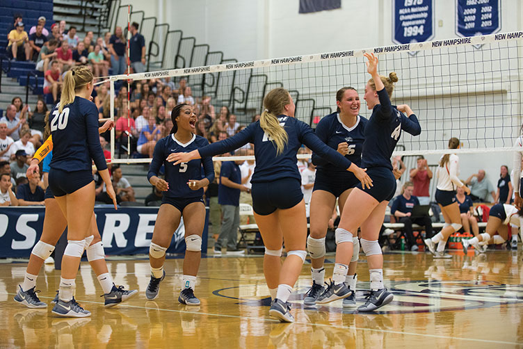 UNH women's volleyball team