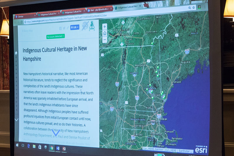 slide of story map homepage