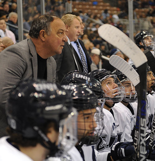 UNH men's head ice hockey coach Dick Umile '72