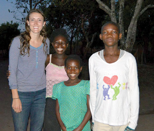 UNH alumna Cori Rees '14, who is serving as a Peace Corps health volunteer in Zambia