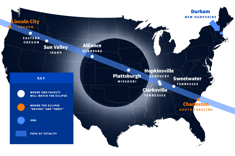 map of eclipse's path of totality