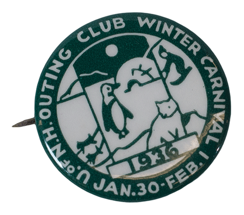 1936 UNH Outing Club Winter Carnival pin