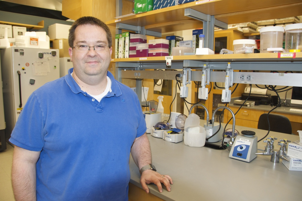 UNH Assistant Professor Matt MacManes in his lab at Rudman Hall