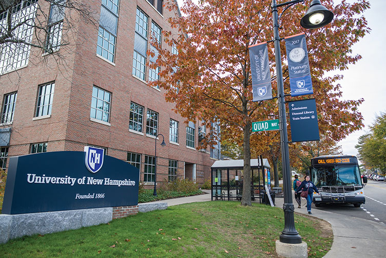 UNH campus crossing and Holloway Commons