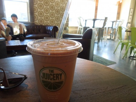 Peanut Butter Bliss smoothie from The Juicery