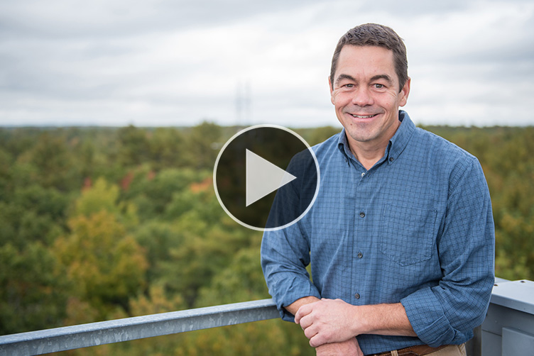 Scott Ollinger, UNH professor of ecosystem ecology