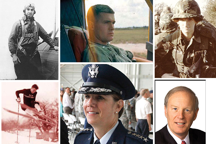 a collage of different UNH ROTC Hall of Fame inductees