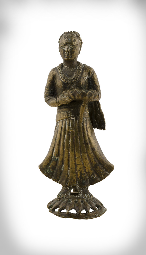 photo of female attendant figurine