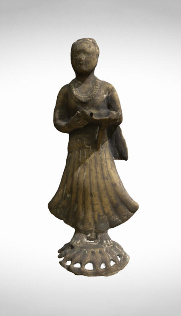 digital rendering of Female Attendant Figurine