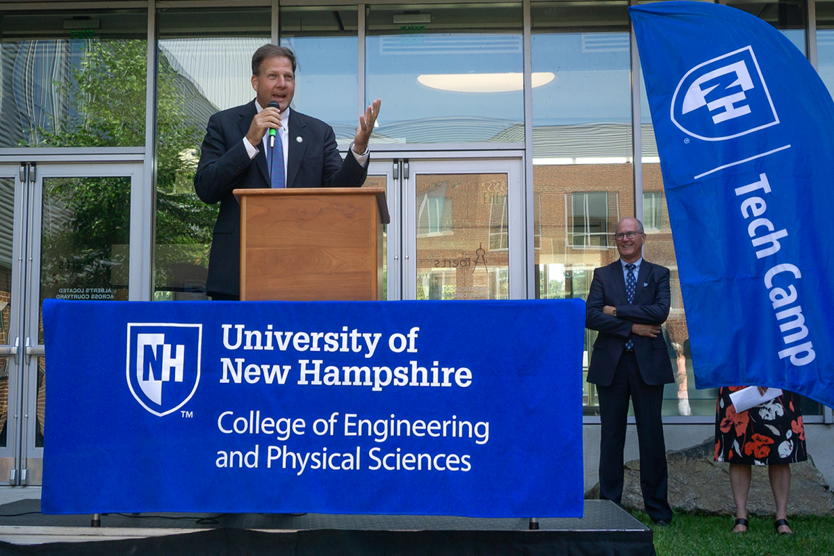 NH Gov. Chris Sununu at University of New Hampshire STEM camp