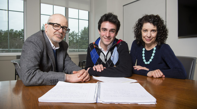 Photo of Parker Gauthier with Rachel Trubowitz and James Rioux