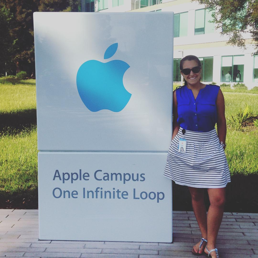 UNH student Abby Koczera '17 outside Apple