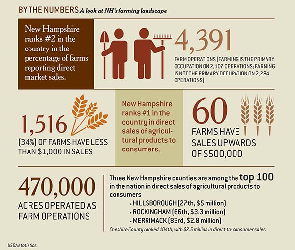 NH's farming landscape infographic