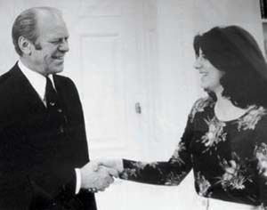 Susan Mercandetti with President Ford