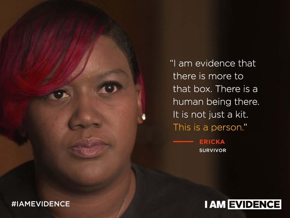 "A courtesy photo of Ericka from ""I Am Evidence"""