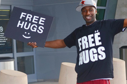 Ken E. Nwadike, Jr., of the Free Hugs Project