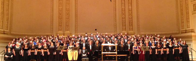 Maine Festival Chorus at Carnegie Hall including UNH student Kathleen Kuhnly