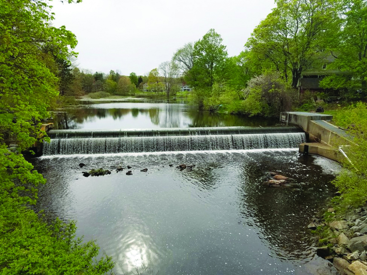 Mill Pond Dam in Durham