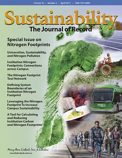 Cover of Sustainability Journal