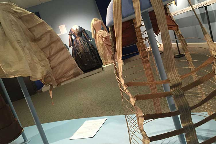 corsets and bustles on display at UNH museum