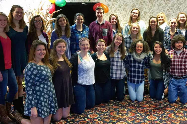 UNH students at Brookdale Senior Living