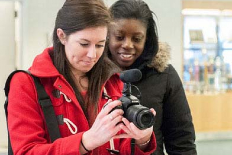 breanna edelstein and ericka depervil with camera