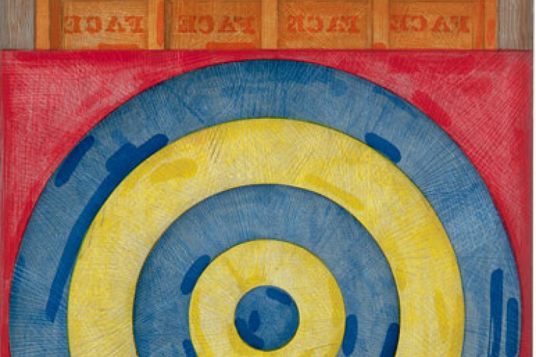 Jasper Johns, Target with Four Faces, 1979, Five color etching