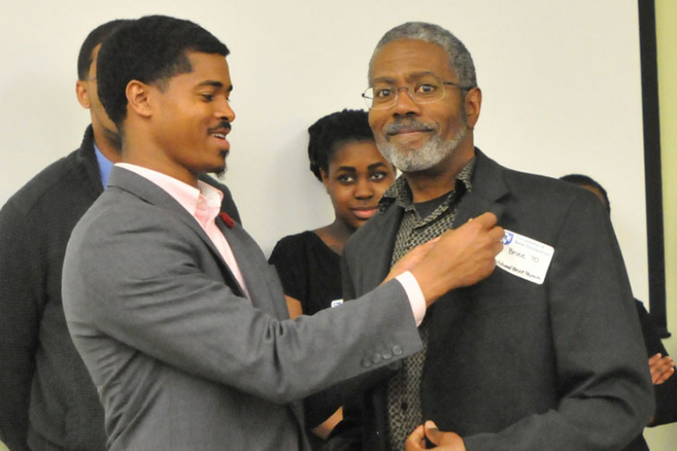 Edward Bruce Bynum with student