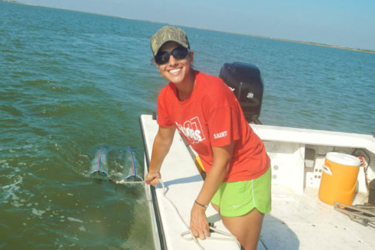 catherine buchalski doing research at sea