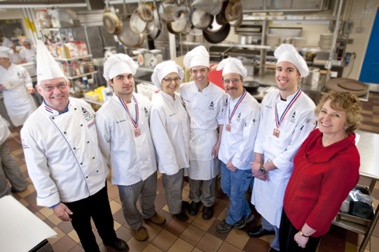 Award-winning Thompson School culinary arts team