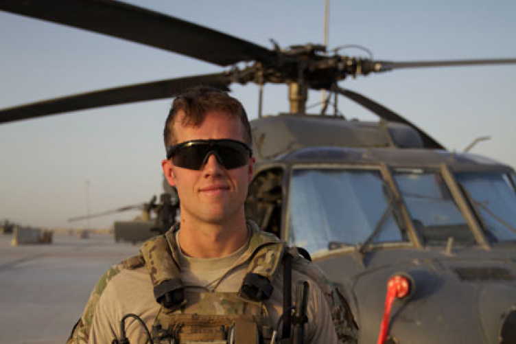 eric hansen with air force helicopter