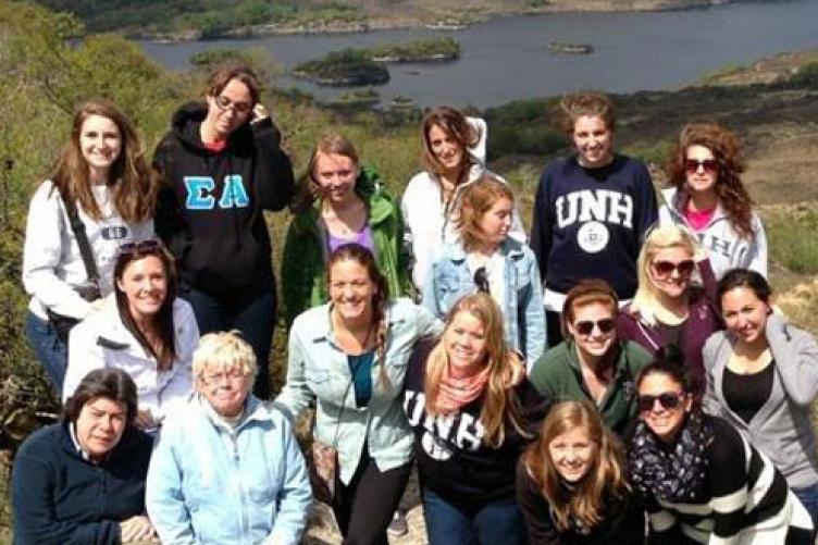 students on ireland study abroad trip