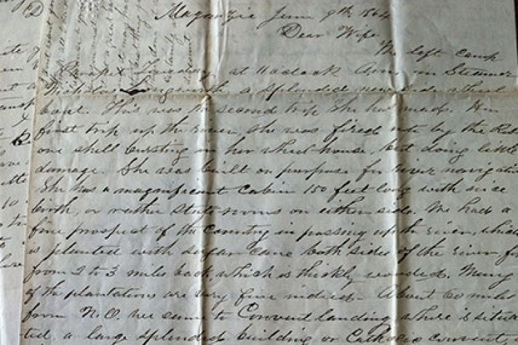 Letter written by John Henry Jenks, a soldier from Keene who served in the 14th N.H. Infantry Regiment, to his wife dated June 9, 1864.