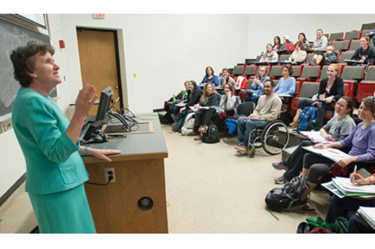 joanne burke teaching a class