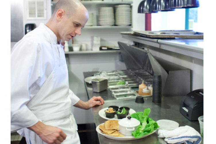 chef matt louis in the kitchen