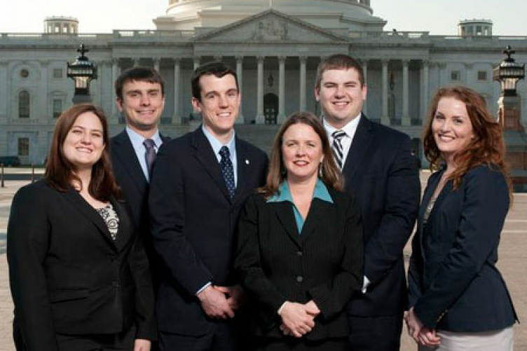 UNH law students in front of nation's capital